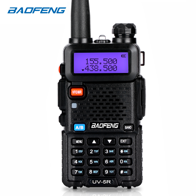 BaoFeng walkie talkie UV-5R zwei weg cb radio upgrade version baofeng uv5r 128CH 5 W VHF UHF 136-174 mhz & 400-520 Mhz