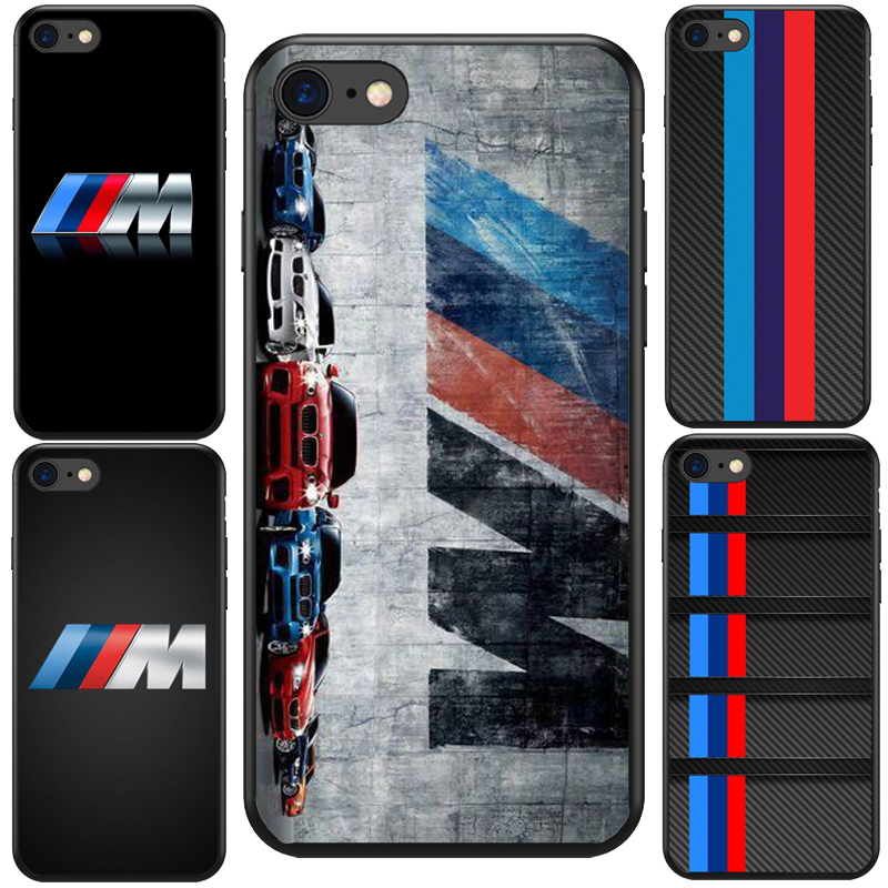 Luxury Car Bmw M logo Black Soft Silicone TPU Cool Best Cover Case For iPhone X 5S SE 6  ...