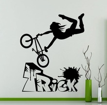 Bike BMX Freestyle Trick Wall Sticker Garage Vinyl Decal Home Living Room Decoration Sports self adhesivo NY-170