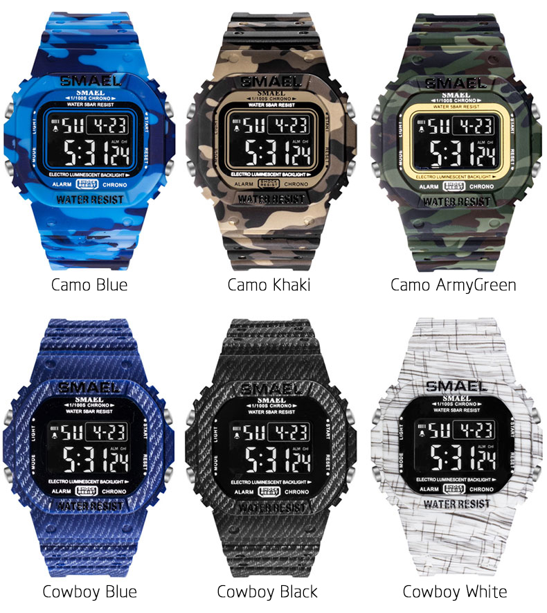 SMAEL Digital Watch For Men (LED, Military, Army, Waterproof, Stopwatch)