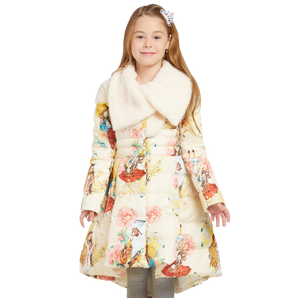 2017 Winter Long Coat Thickening Children Girls Down Jackets Fashion Warm Parka Coat Cotton Hight Quality Outerwear Kids Clothes 2017 fashion boy winter down jackets children coats warm baby cotton parkas kids outerwears for