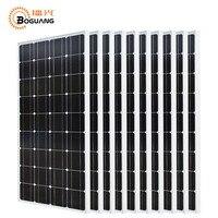 Boguang 10*100 Вт солнечные панели 1000 Вт фотоэлектрических модулей монокристаллического кремния ячейки 1KW решетки Системы для 12 В/24 В батареи