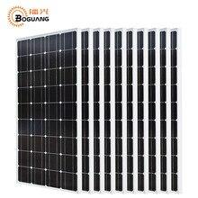 Boguang 10*100 w солнечная панель 1000 w Фотоэлектрический Модуль монокристаллическая Кремниевая ячейка 1KW система Off-grid для 12 v/24 v батареи