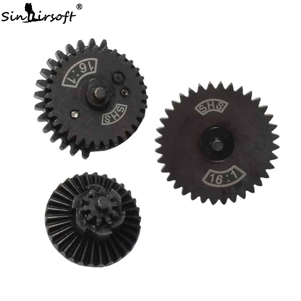 SINAIRSOFT SHS 16:1 High Speed Gear Set For Ver.2 / 3 AEG Airsoft Gearbox Shooting Hunting Paintball Gun Accessories