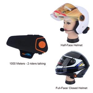Image 5 - 2 sztuk BT S2 Pro interkom motocyklowy kask słuchawki hełmofonu motocykl domofon Bluetooth wodoodporny Radio FM domofon