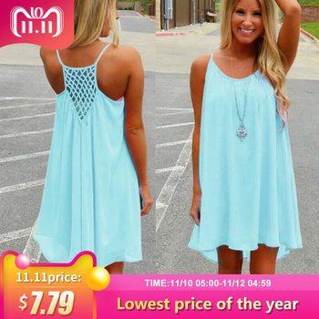 Women beach dress fluorescence female summer dress chiffon voile women dress 2018 summer style women clothing plus size 1