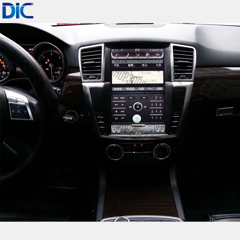 6.0 Android system navigation player vertical screen steering wheel original control 9 inch <font><b>12</b></font> inch for Benz ML GL 2012-2017 image