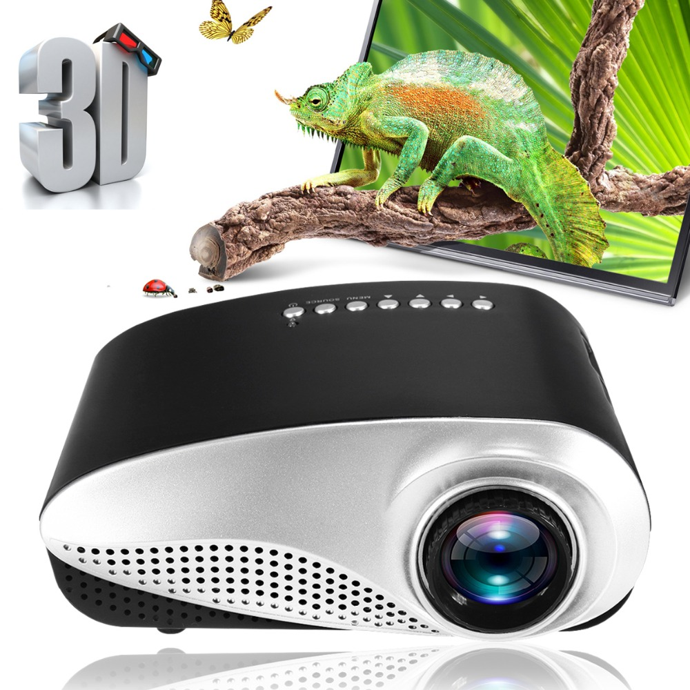 лучшая цена Mini Projector Home Cinema Mini Portable 1080P 3D HD LED Projector Multimedia Home Theater USB VGA HDMI TV EU PLUS US PLUS