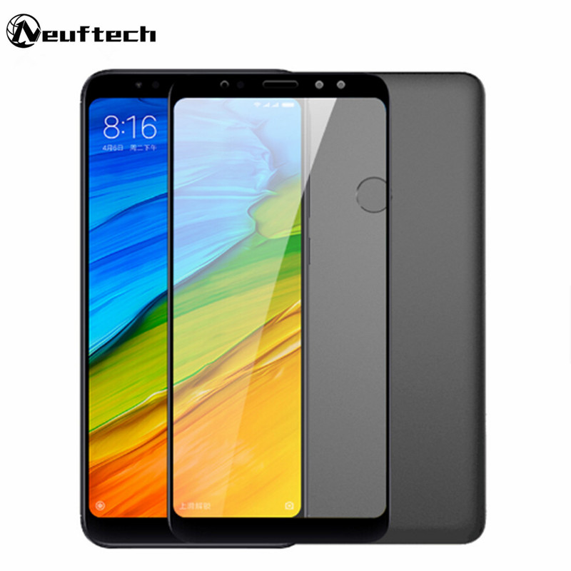 Neuftech Full cover tempered glass film For Xiaomi Redmi Note 4 3 5 plus screen protector glass film on redmi 5 Plus Note5 Pro