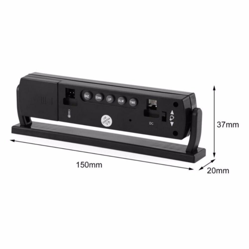 Image 3 - ONEWELL автомобиль черный авто часы напряжение цифровой светодиодный Автомобильный термометр температуры Будильник с Прикуриватель кабель