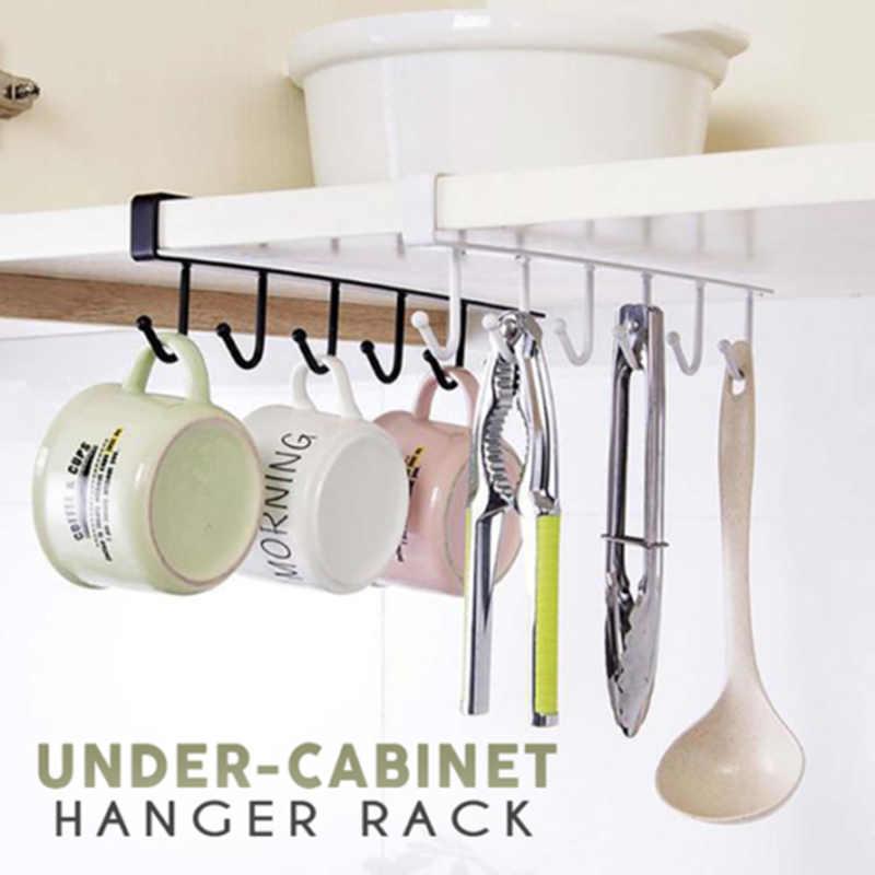 2PCS  Kitchen Under Cabinet Towel Cup Paper Hanger Rack Organizer Shelf Holder