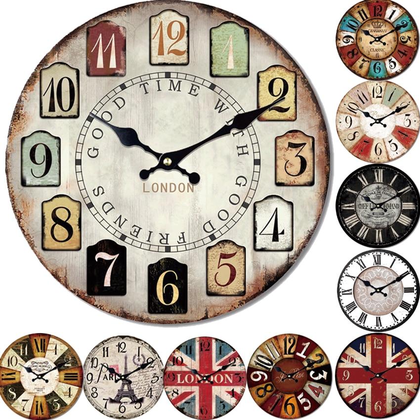Dix Styles Reloj Grand Mur Horloge Design De Mode Silencieux Salon Mur Décor Saat Montre La Maison De Décoration Murale De Noël Cadeau