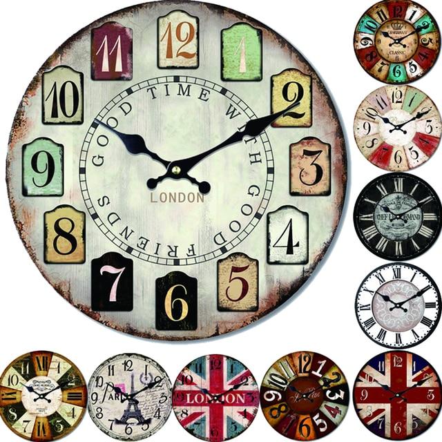 Zehn Arten Reloj Grosse Wanduhr Design Mode Schweigen Wohnzimmer Wand