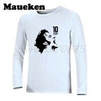 Men Zebra Prince Alessandro del Piero #10 Sketch Legend Turin T Shirt Long Sleeve Autumn Winter T SHIRT W1101108