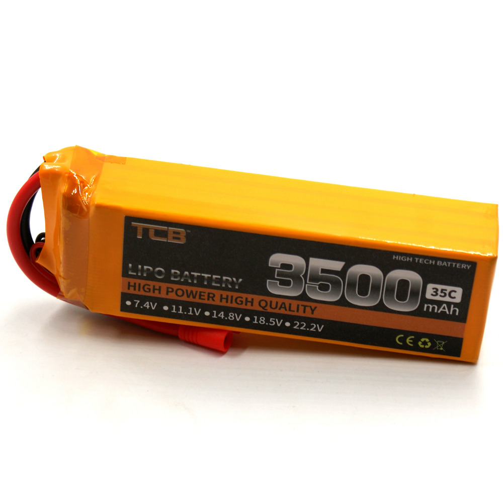TCB RC airplane Lipo battery 14.8v 3500mAh 35C 4s Li-ion cell high discharge drone AKKU free shipping free customs taxes super power 1000w 48v li ion battery pack with 30a bms 48v 15ah lithium battery pack for panasonic cell