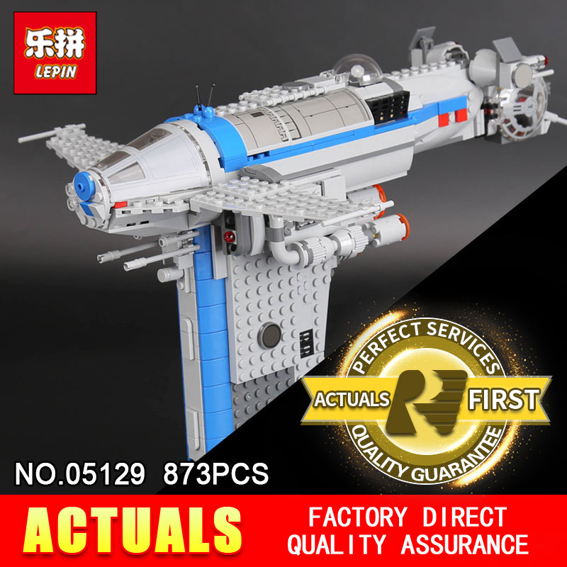 Lepin 05129 The Resistance Bomber 873Pcs Star Plan Series Building Blocks Bricks Assemblage Toys DIY Educational Model 75188 perfect rifle hunting flashlight uf 1508 ir850nm t38 zoomable powerful torch xre red light lamp holder helpful for night hunting