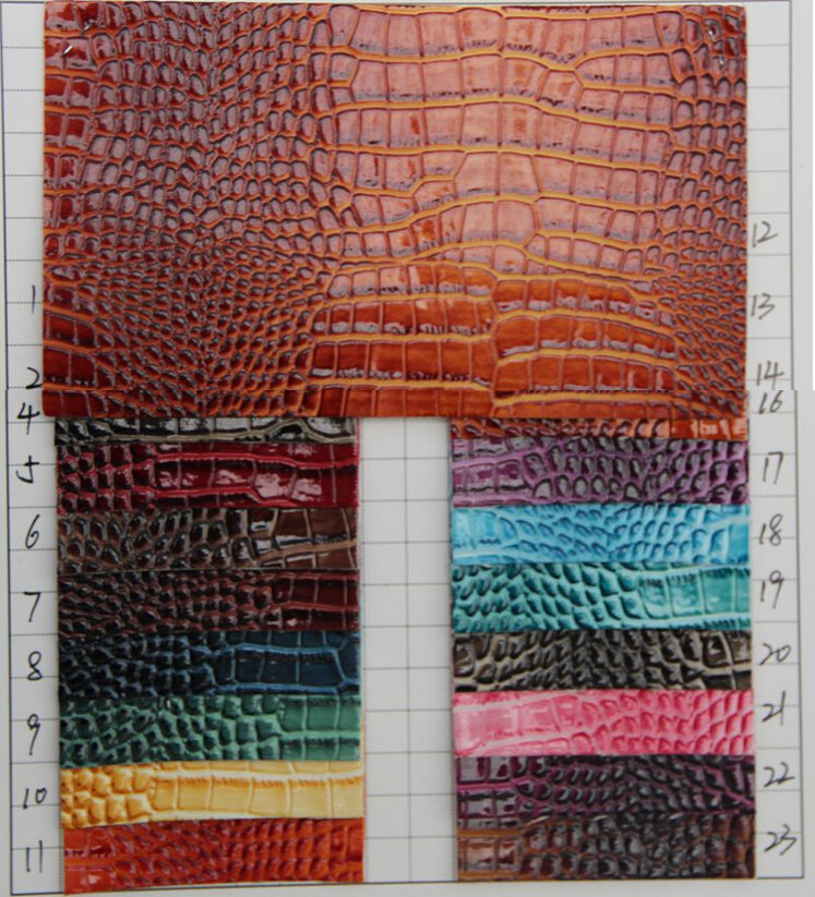 Shiny surface crocodile grain synthetic pu leather tissu - Tejidos para tapizar sillas ...