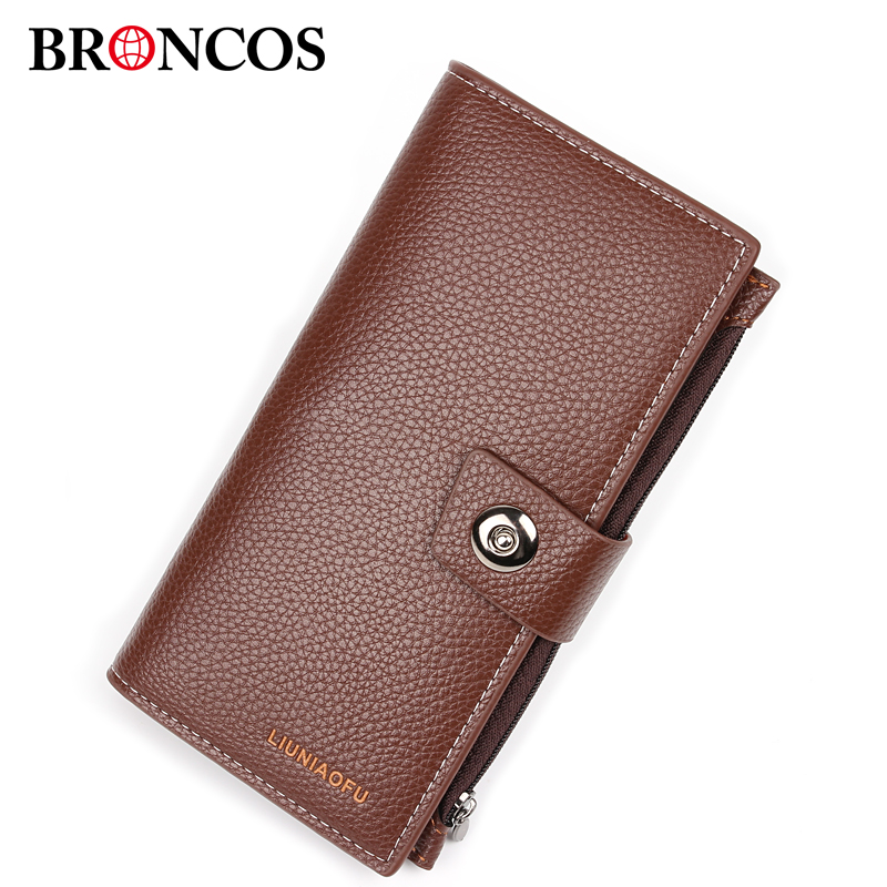 Wallet Men Leather Men Wallets Business Brand Card holder Coin Purse Men's Long Hasp Wallet Leather Clutch carteira masculina