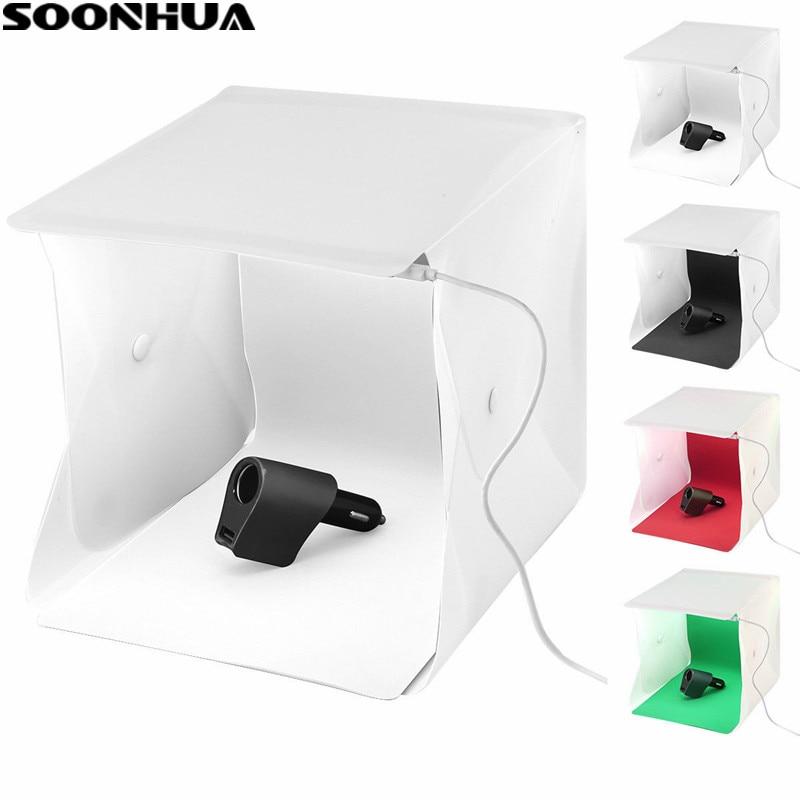 SOONHUA Folding Lightbox Photography Studio Desktop Camera Photo