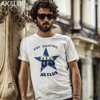 AK KULÜBÜ Marka T-shirt Cuba Libre Serisi Pentagram Yıldız Baskılı T Gömlek Pamuk Kısa Kollu Tişört Rahat Erkekler T-shirt 1600007