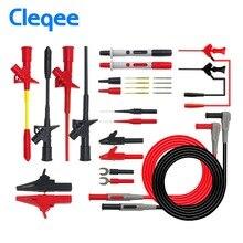 Cleqee P1300 Serie Austauschbare Multimeter Sonde Sonden Test Haken & Test Blei kit kits 4mm Banana Stecker Alligator Clip test Führt