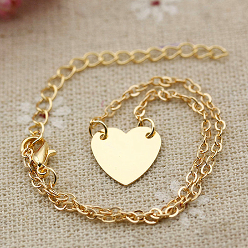 2017 Hot Fashion Women Love Heart Ankle Chain Anklet Bracelet Beach Sandal Foot Jewelry Anklet Enkelbandje Present Halhal