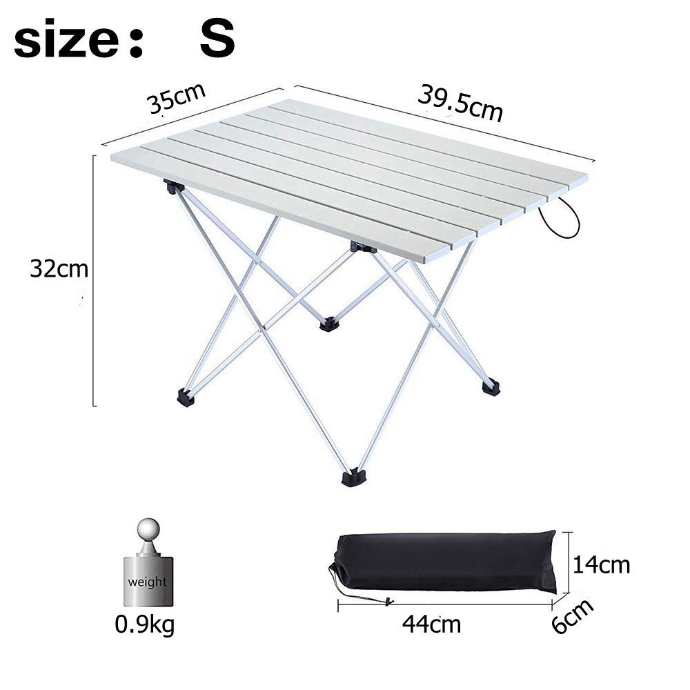 Image 4 - VILEAD 4 colors Portable Camping Table Aluminum Ultralight Folding Waterproof Outdoor Hiking BBQ Camp Picnic Table Desk Stable-in Camping Tables from Sports & Entertainment