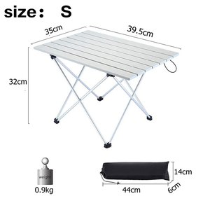 Image 4 - VILEAD 4 colors Portable Camping Table Aluminum Ultralight Folding Waterproof Outdoor Hiking BBQ Camp Picnic Table Desk Stable