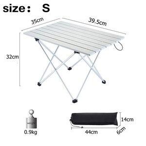 Image 4 - Vilead 4色ポータブルキャンプテーブルアルミ超軽量折りたたみ防水屋外ハイキングバーベキューキャンプピクニックテーブルデスク安定した