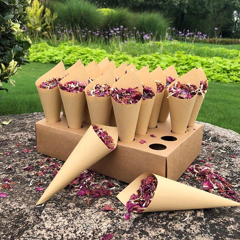Натуральные свадебные конфетти, биоразлагаемые свадебные конфетти, сушеные розовые цветочные лепестки для свадьбы, день рождения, вечерни...