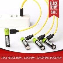 4 шт. Мирко USB перезаряжаемые батарея AAA 400 мАч AAA 1,5 в игрушечные лошадки удаленного аккумуляторы с контроллером литий полимерный батарея