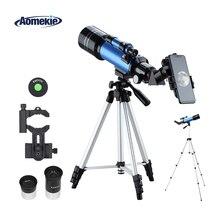AOMEKIE 70400 Telescope for Beginner with Adjustable Tripod Phone Adapter Erect-Image Moon Watching Terrestrial Space Monocular