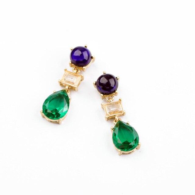 Kiss me novos estilos de moda jóias resina gota de água moda brincos de presentes de natal