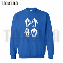 TARCHIA 2019 Free Shipping Super Hero Avangers Iron man Hulk Captain America hoodies sweatshirt personalized man