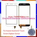 """Хорошая Работа 5.5 """"для Huawei Ascend G7 Новый Сенсорный Дигитайзер Сенсорный Экран Датчик Стекла Pancel Черный Белый Номер отслеживания Бесплатная Доставка"""