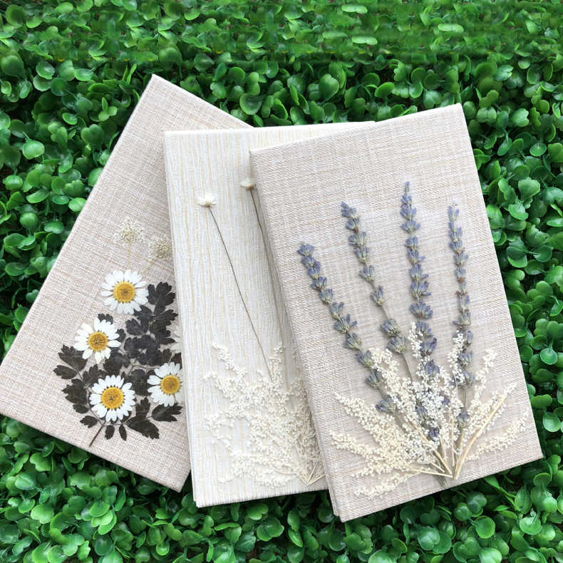 DIY Pure handwork Dried flowers seriesn Creative Notebook Planner Agenda Diary Notepad Filofax Journal Bujo 2019 Hand Book Gift-in Notebooks from Office & School Supplies
