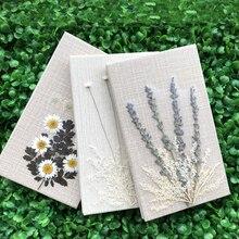 DIY טהור עבודת יד פרחים מיובשים seriesn Creative מחברת מתכנן סדר יום יומן פנקס אוגדן יומן Bujo יד ספר מתנה 2020