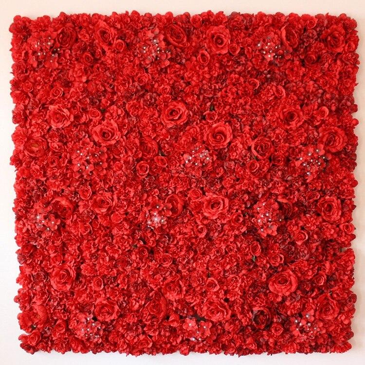 10 pcs/lot mariage fleur artificielle décoration rose hortensia fleur romantique mariage fleur mur pour scène ou toile de fond
