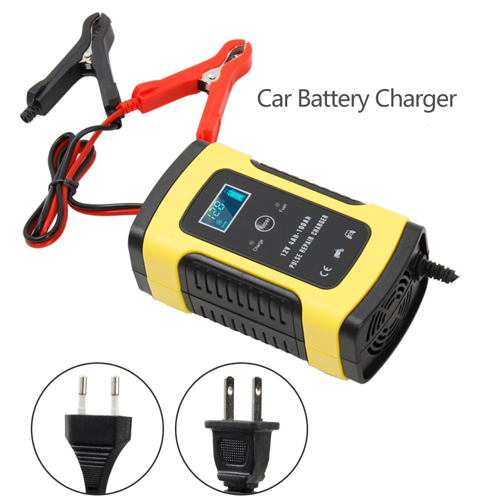 Full Automatic Car Battery Charger 110V To 220V To 12V 6A Intelligent Fast Power Charging Wet Dry Lead Acid Digital LCD Display