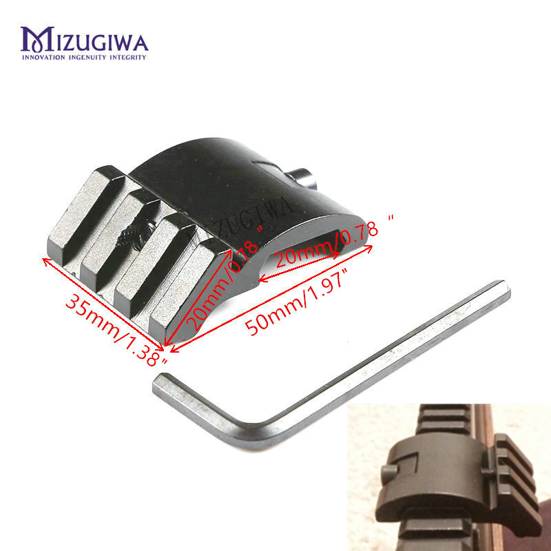 Tactical Ultra Low Profile Offset Angle Picatinny Rail Mount 45 Degree 20MM Bk