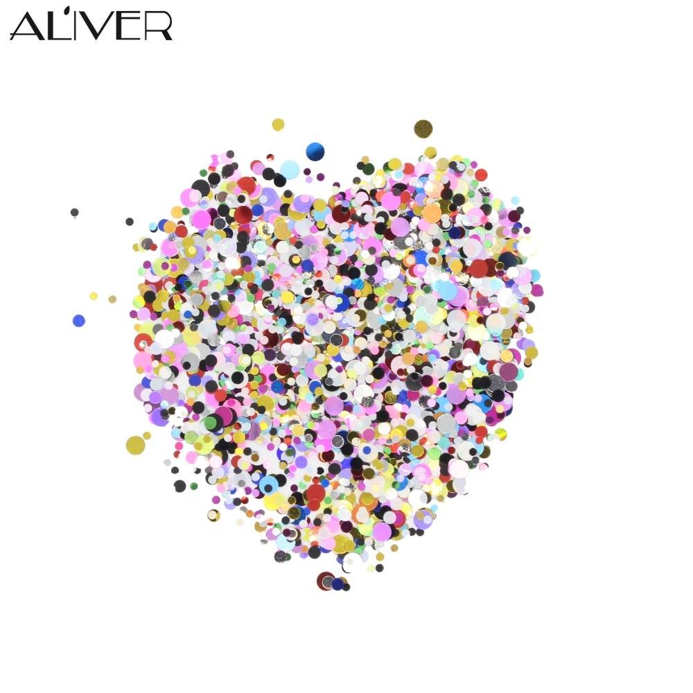 ALIVER 12 spalvų plastiko nagų dailė blizgantis miltelių spalvos - Nagų menas - Nuotrauka 4