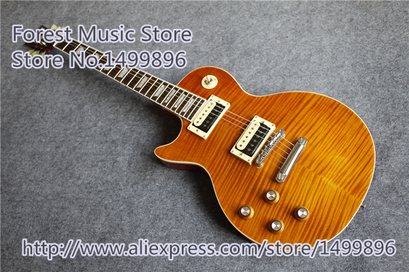 все цены на Hot Selling China Lefty LP Custom Electric Guitars Tiger Flame Finish Mahogany Guitar Body For Left Handed