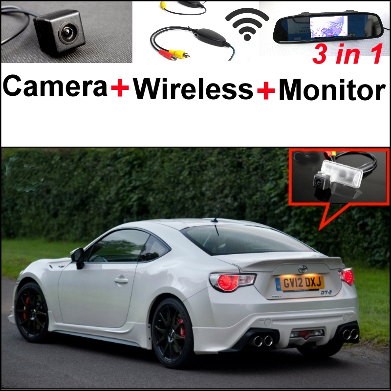 3 in1 Special Camera + Wireless Receiver + Mirror Monitor Parking System For TOYOTA 86 GT FT GT86 FT86 86GT 86FT For Subaru BRZ wireless pager system 433 92mhz wireless restaurant table buzzer with monitor and watch receiver 3 display 42 call button