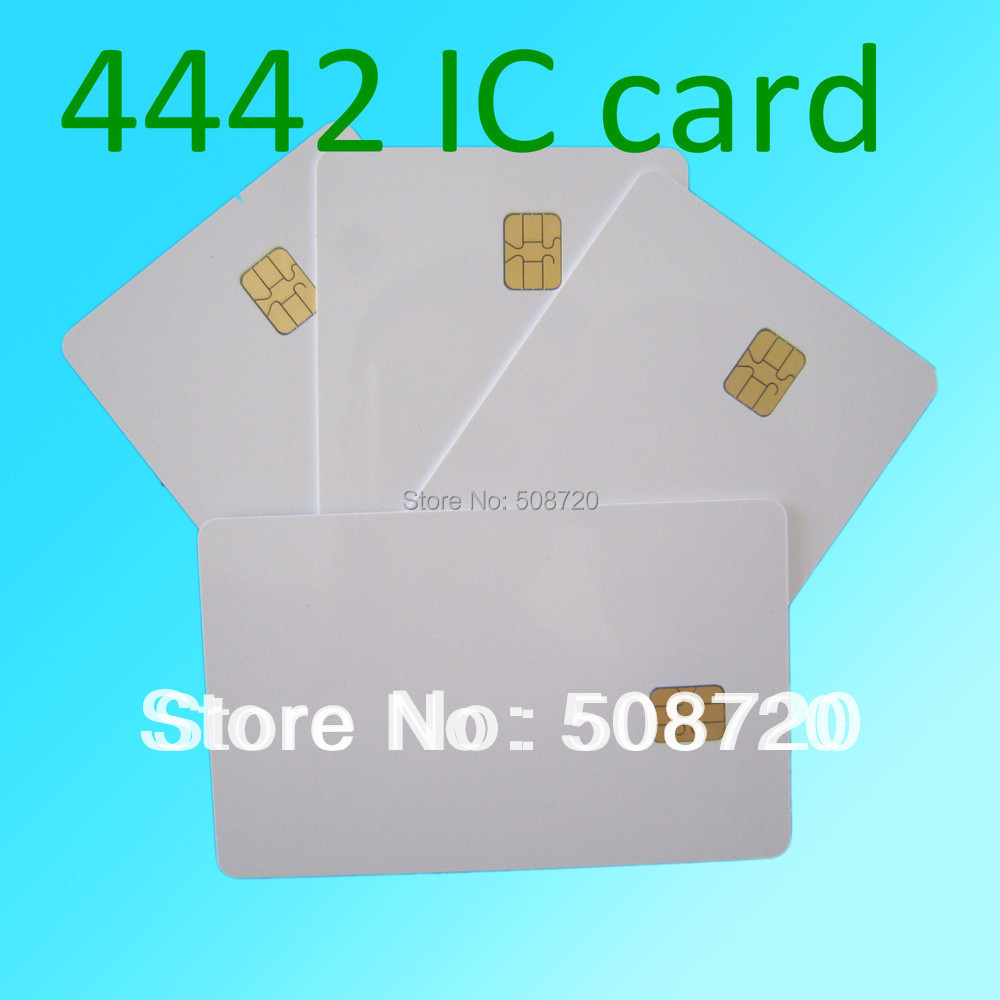 20 PCS White PVC IC With SLE4442 Card ISO 7816 Blank Smart Contact IC Card