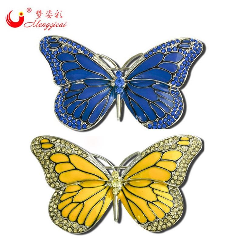 New Kualitas Tinggi Kupu-kupu Bros Pin Kristal Berlian Imitasi Indah broches bijou Untuk Wanita Gaun Pernikahan Hadiah Natal Bridal