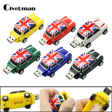 New Elegant England Car Cool Creative Gift 8GB USB Flash Drive Memory Stick 16GB Pendrive External Storage 32GB USB Memory Card