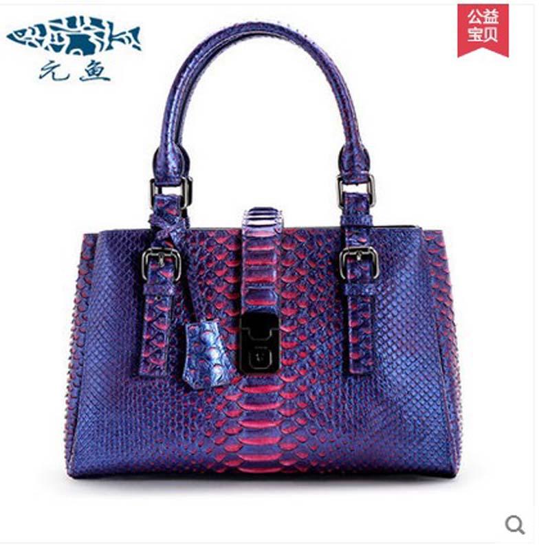 4bff3b12d534 yuanyu 2018 new hot free shipping female real python leather women handbag  real leather handbag fashion snake skin women bag
