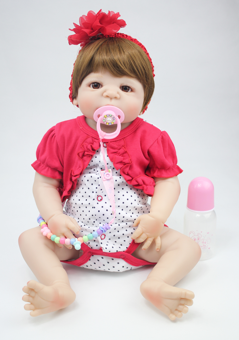 55cm Full Silicone Body Reborn Baby Doll Toys 22inch Newborn Princess Toddler Babies Doll Bathe Toy Girls Bonecas Brinquedos 55cm full silicone reborn baby doll toy real touch newborn princess toddler babies alive bebe doll with pacifier girl bonecas