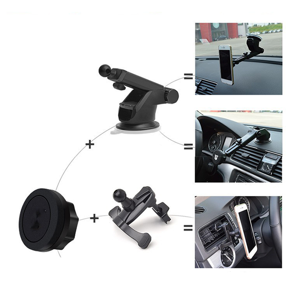 Universal Car Windshield Cell Phone Holder Magnetic Cradle