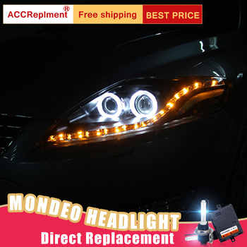 2Pcs LED Headlights For Ford Mondeo 2007-2012 led car lights Angel eyes xenon HID KIT Fog lights LED Daytime Running Lights - DISCOUNT ITEM  17% OFF All Category